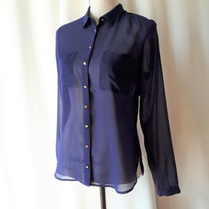 *2/$14* Dynamite Sheer Blue Button Up Sz S